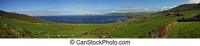 Atlantic panorama in Ireland