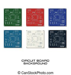 Set of vector circuit board design