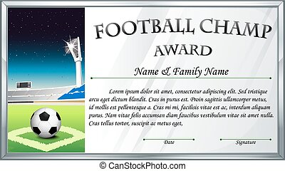 Football champ award template
