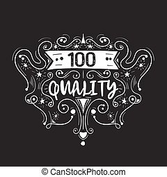 Best quality hand drawn label