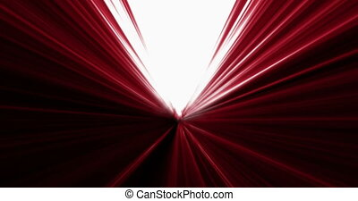 moving fast in abstract futuristic red tunnel