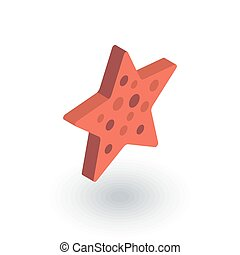 Starfish isometric flat icon. 3d vector colorful...