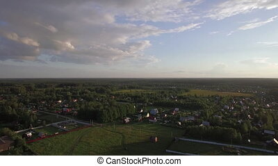 Russian countryside in summer, aerial view - Aerial summer...
