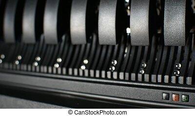 Computer server harddisk LED error alert sign - Computer...
