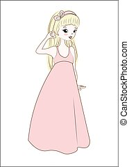 princess in summer dress blonde