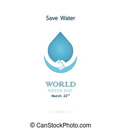 Water drop with handshake icon vector logo design...