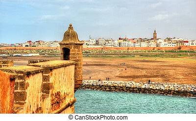 Fortifications of Rabat in Morocco, the Kasbah of the Udayas