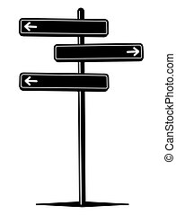 Guidepost - Vector illustration of the guidepost pointing in...