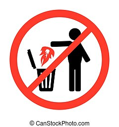 Prohibition sign - Vector illustration of the prohibition...
