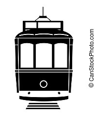 Tram - Vector illustration of the Lisboa tram on a white...