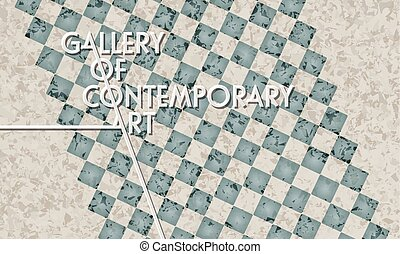 Marble pattern with the words gallery of contemporary art