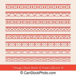Vintage Chinese Border Frame Vector Collection