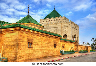 Mausoleum of Mohammed V, a historical building in Rabat,...