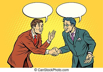 Business negotiations businesspeople shaking hands