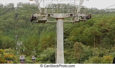 Cableway in Dalat city. Vietnam.