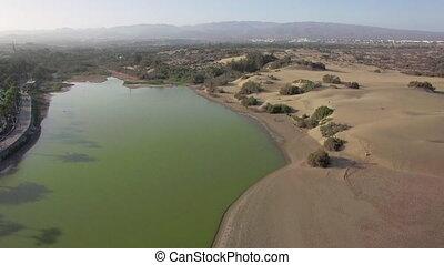 Aerial nature scene of Gran Canaria - Aerial shot of Gran...