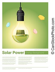 Energy concept background with solar panel in light bulb 8