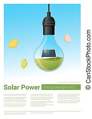 Energy concept background with solar panel in light bulb 7