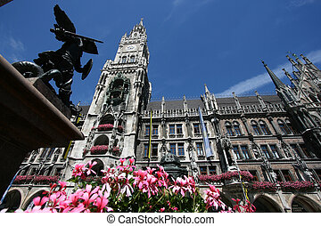 Munich - Gothic Revival building - New Town Hall on...