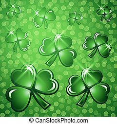 St Patricks Day abstract background.
