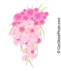 Wedding Cascade Bouquet - Wedding cascade bouquet of roses...