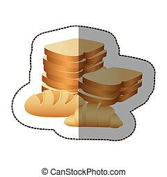 various types of bread icon, vector illustraction design