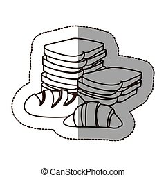 figure various types of bread icon, vector illustraction...