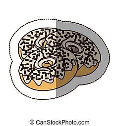 contour chocolate donuts icon