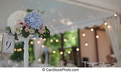 Outdoors party decoration - Outdoors wedding party...