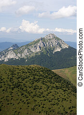 Little Fatra mountains - green and rocky mountains