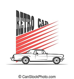 retro car in vintage style