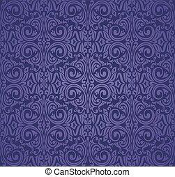 Violet purple Floral  vintage seamless pattern background design.eps
