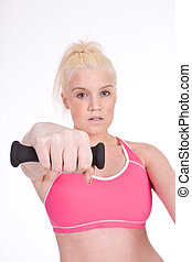 female working out - Pretty and sexy young woman with a...