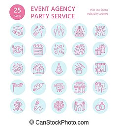 25-ICONS-template - Event agency, wedding organization...