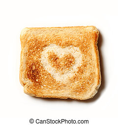 Toast with a heart on it