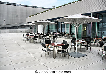 Outdoor cafe - Modern architecture - fashionable outdoor...