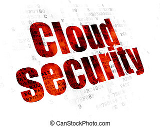 Safety concept: Cloud Security on Digital background