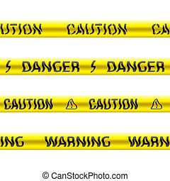 Seamless tapes of caution - Seamless vector. Illustration of...