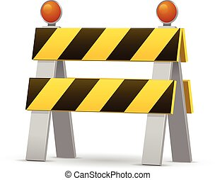 Construction Barrier - Construction barrier vector...