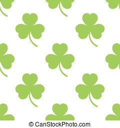 Clover pattern on a white background