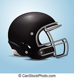 Football Helmet - Black American football helmet vector...