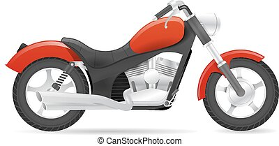 Cruiser motorbike vector illustration isolated on white