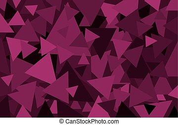 Triangle - geometric vector background - Triangle - purple...