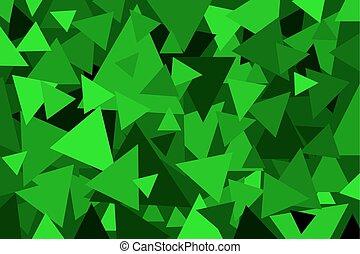 Triangle - geometric vector background - Triangle - green...
