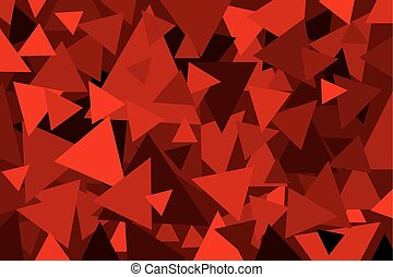 Triangle - geometric vector background - Triangle - red...