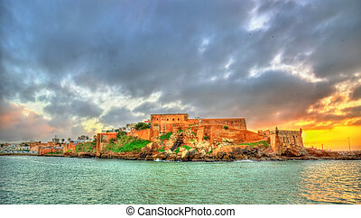 Sunset above Kasbah of the Udayas in Rabat, Morocco - Sunset...