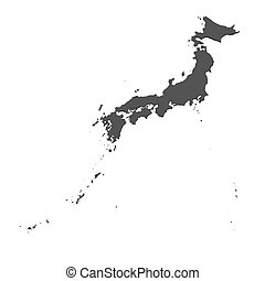 Map of Japan - isolated - Rendered map of Japan