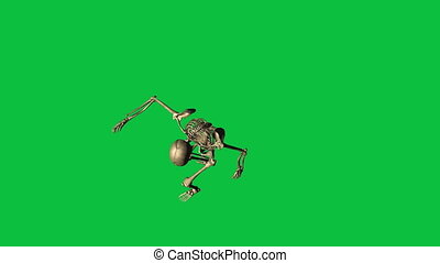 skeleton hostage shot - separate on green screen - 3d...
