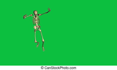 skeleton surrender  - separate on green screen