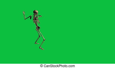 skeleton bayonet drill - separate on green screen - 3d...